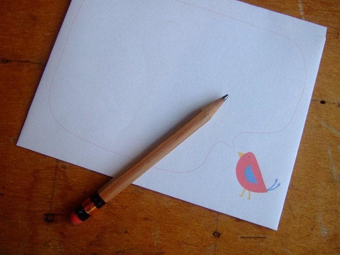 Little Bird Letter Writing Set - Printable PDF