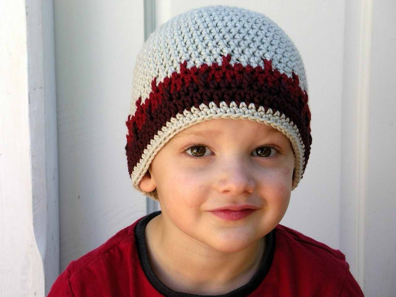 Beanie Hat Crochet Pattern For Child Crochet Hat Pattern Boys