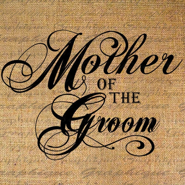 Mother of the Groom Text Word Marriage Bridal Wedding by ...