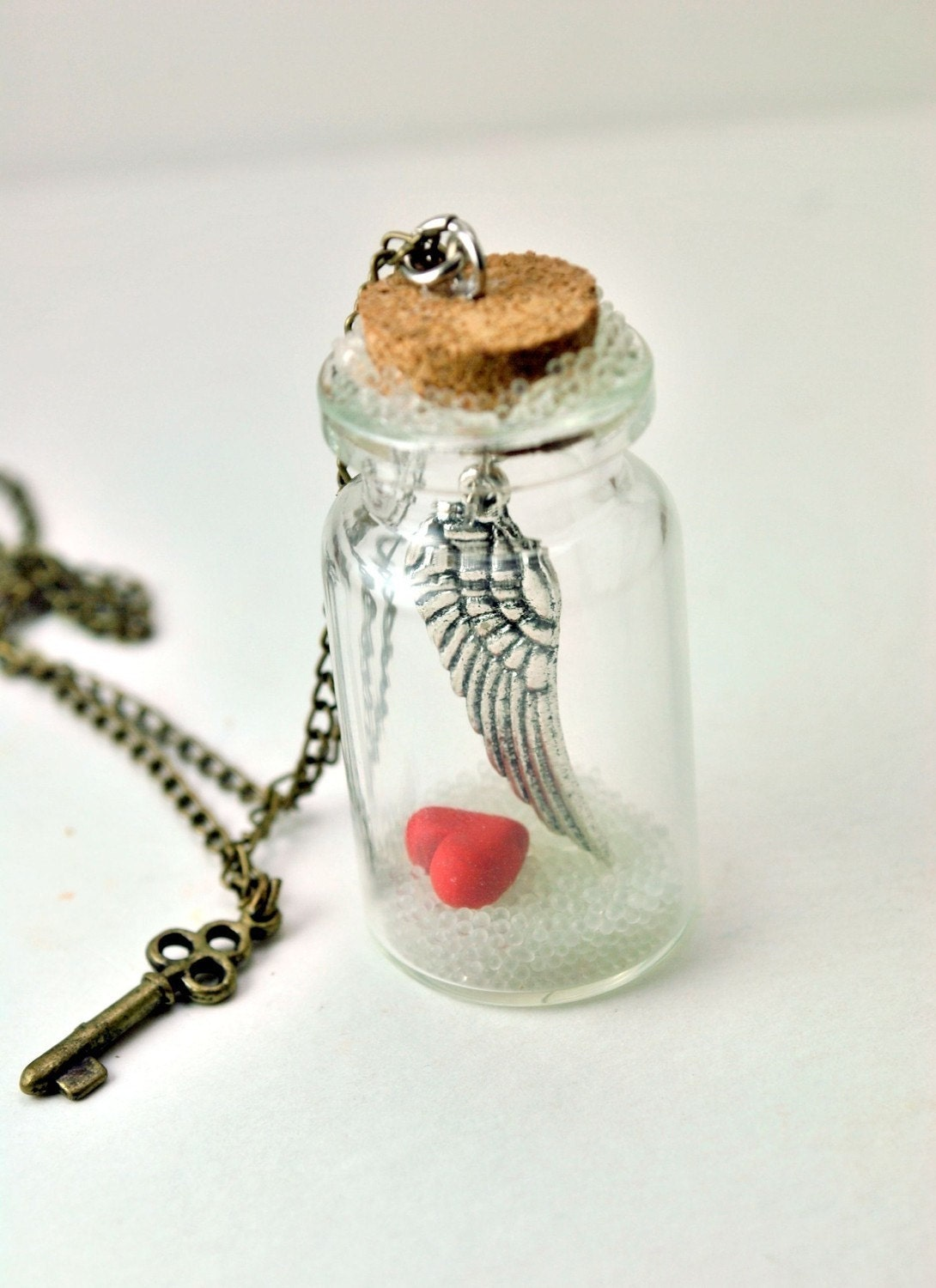 My Heart Belongs to You.. Message in a Bottle Necklace. Valentine Gift