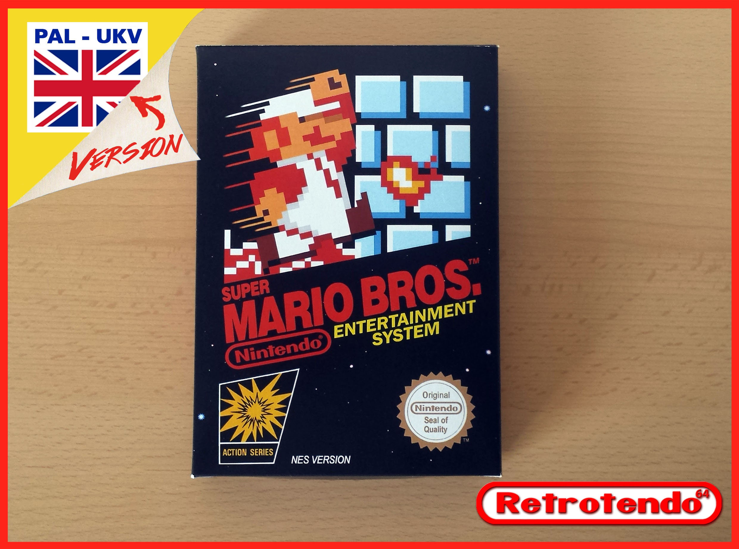 Super Mario Bros NES Nintendo Reproduction Box Only  No Game PALEng  PALFah Versions