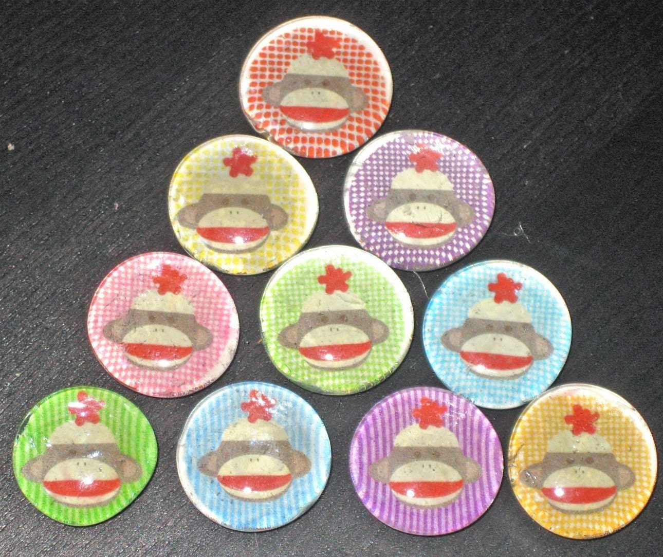 sock monkey magnets