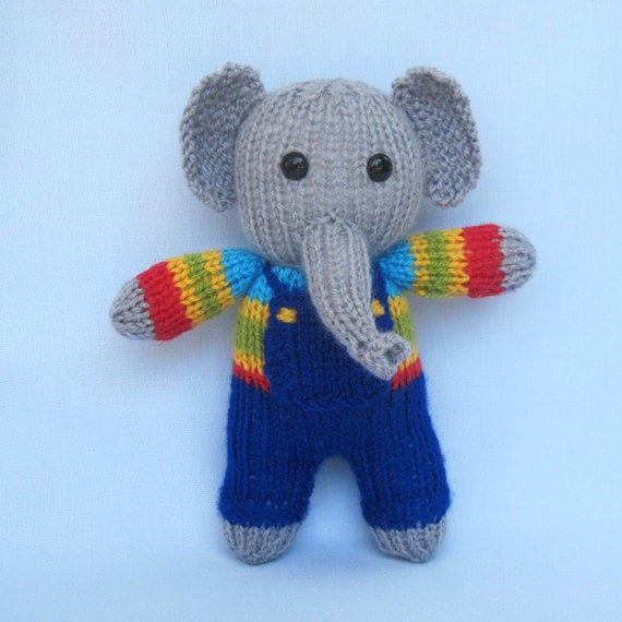 Fruit Drop the elephant knitted toy animal doll by toyshelf