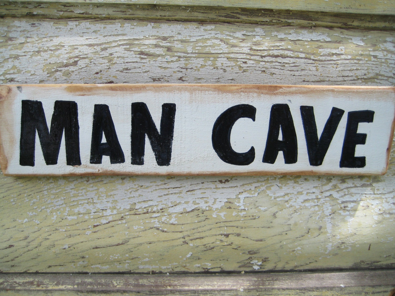 Handmade Man Cave Signs : Man cave sign rustic wood reclaimed by