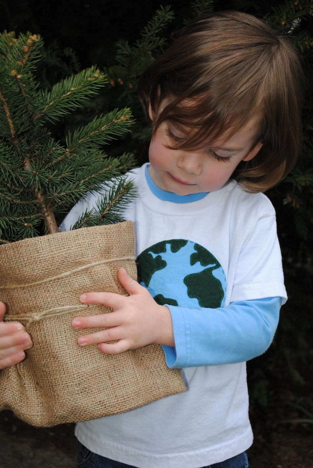 Hand sewn Earth Day toddler t shirt