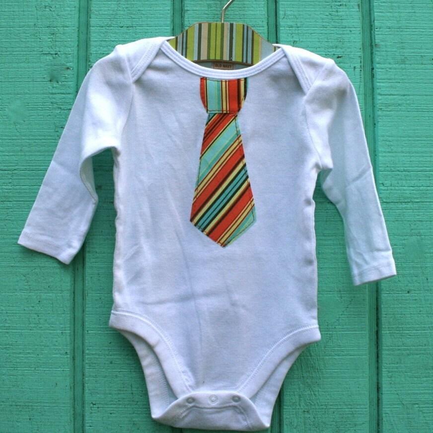 Little Business Man- Funky Tie Onesie
