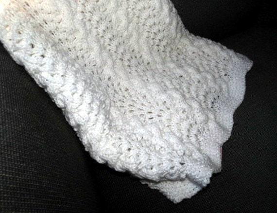 Knitting Pattern Receiving Blanket : Baby Afghan or Receiving Blanket Hand Knit by ...