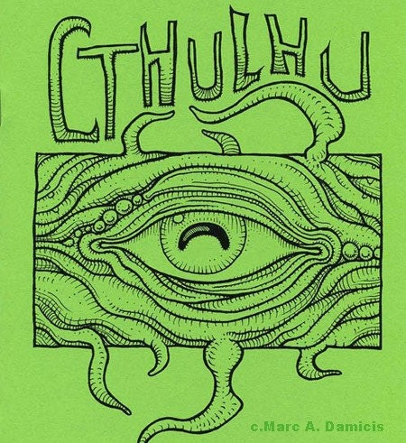 Cthulhu coloring book monster art zine h p by pickledpunk for Cthulhu coloring pages