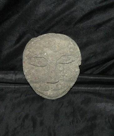 Carved pumice stone face hawaiian polynesian by foundinalaska