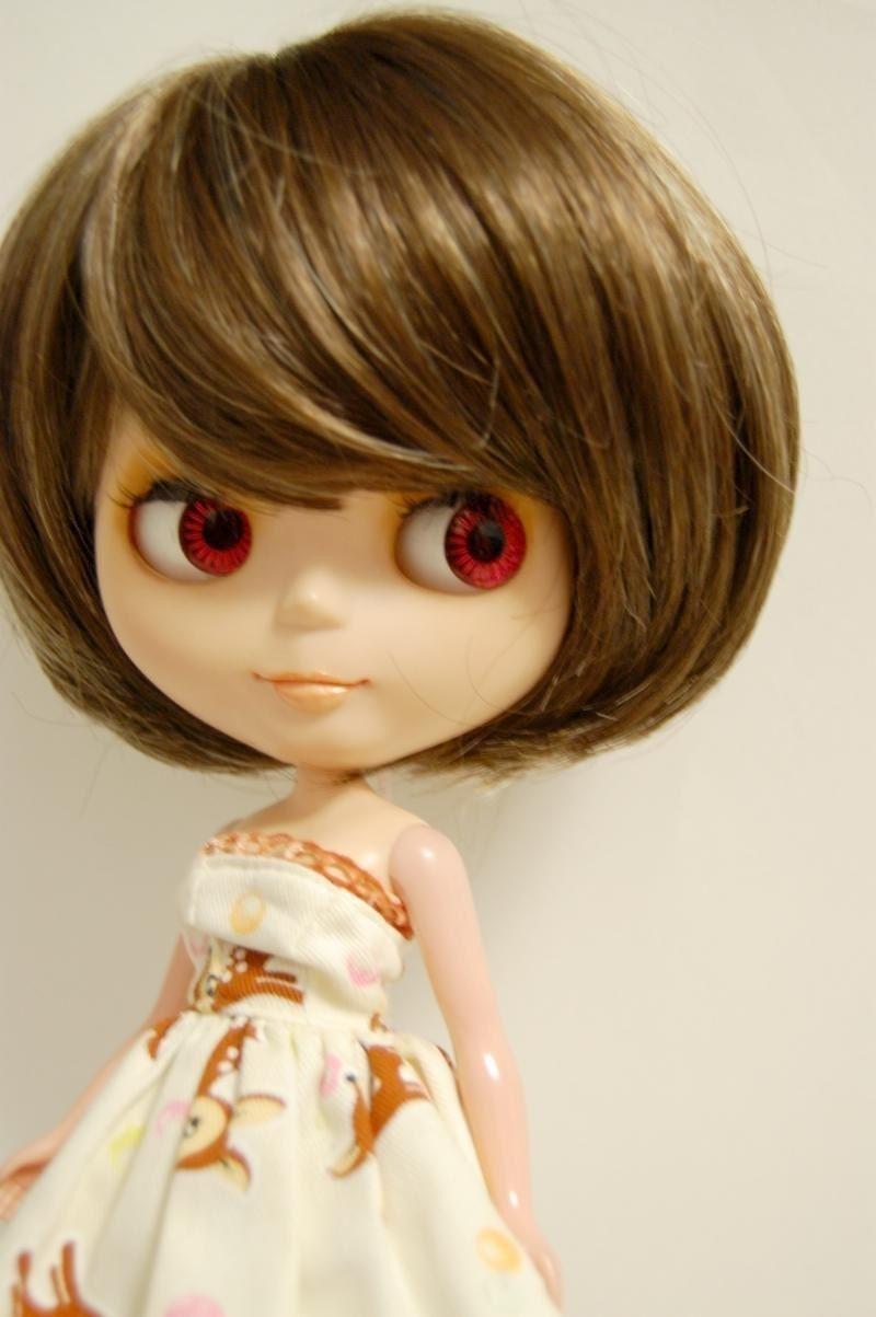 Brown Bob Wig for Blythe Dolls