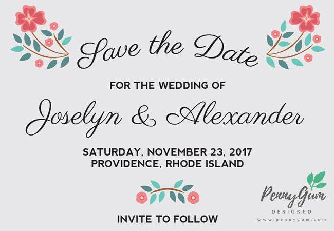 DIY Printable Wedding Stationery Set Editable PDF  Blooming Betty