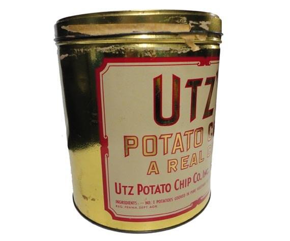 Vintage Utz S Potato Chips Tin Vintage Chip Tin By