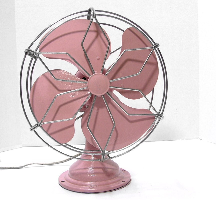 Pink Electric Fan : Refurbished vintage pink electric fan by fishbonedeco on etsy