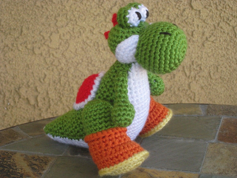 Crochet Yoshi Plush Vegan Amigurumi Figurine Doll by ...