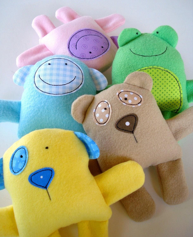 Интересные мягкие игрушки из ткани