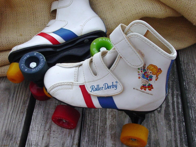 Rainbow Brite Roller Skates