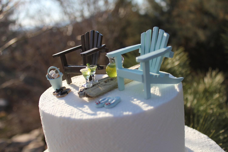 Beach Theme Wedding Cake Topper Classic by