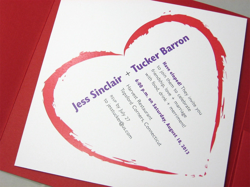 Reception Invitation Wording After Elopement with great invitations sample