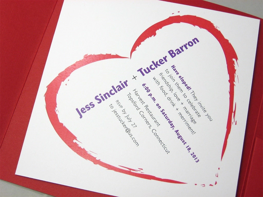 We Eloped Party Invitations as best invitation example