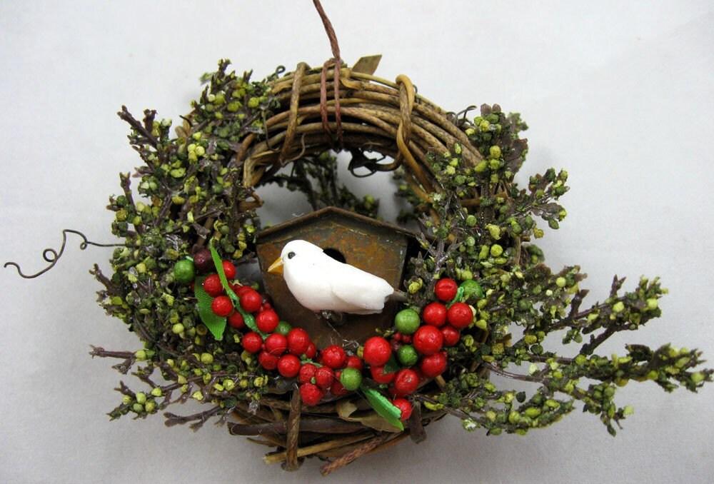 Rustic Birdhouse Ornament 210