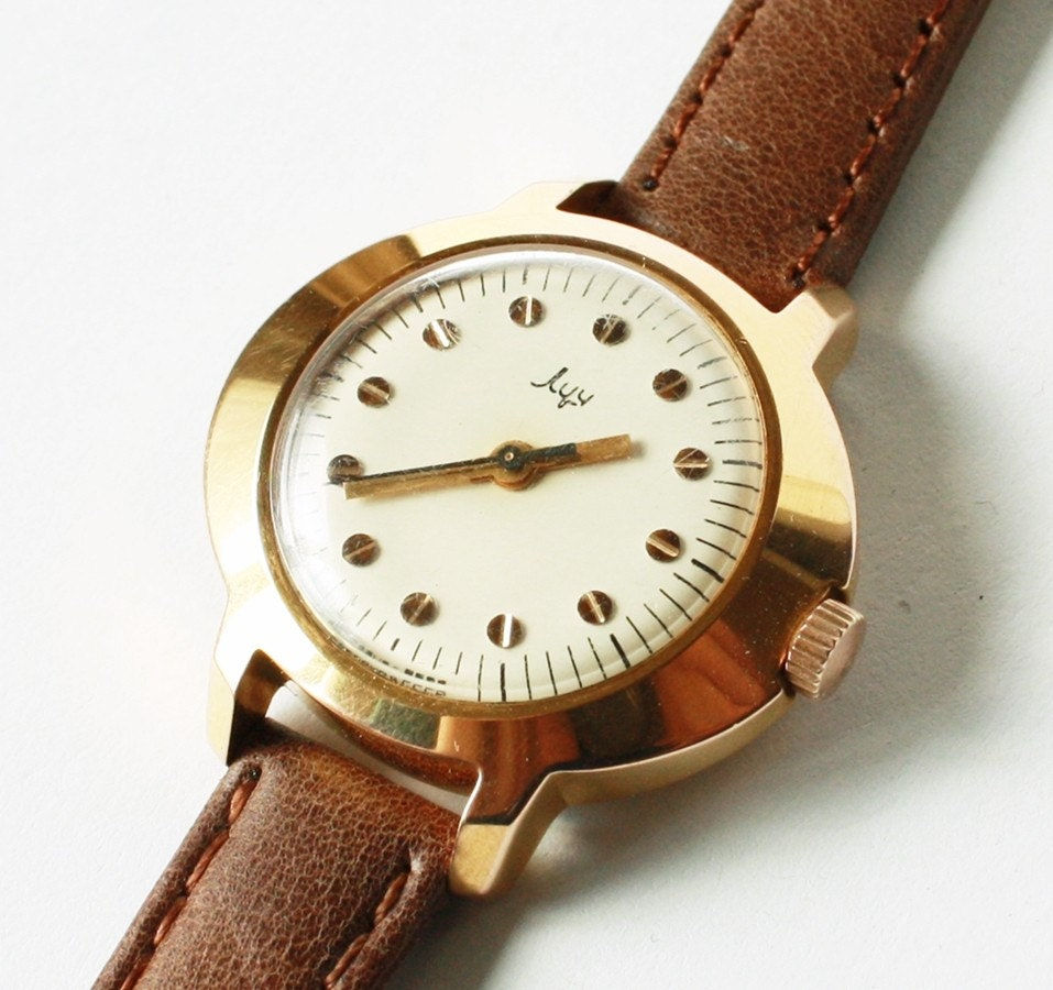 Vintage ladies mechanical watch Luch from Belarus Soviet Union era