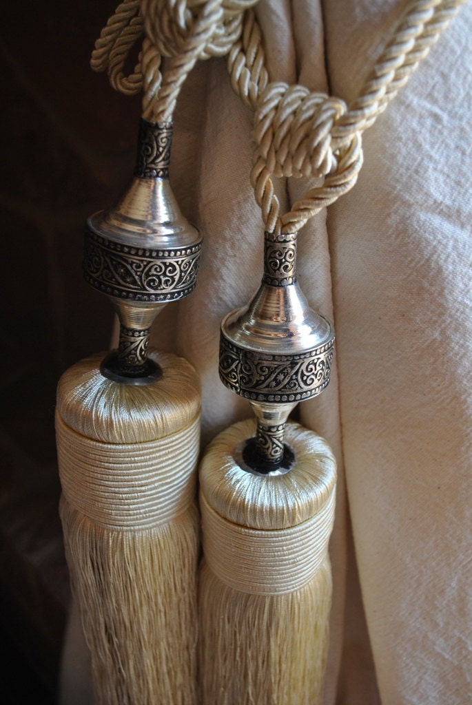 Moroccan Curtain Tassels by MaisonMarrakech on Etsy