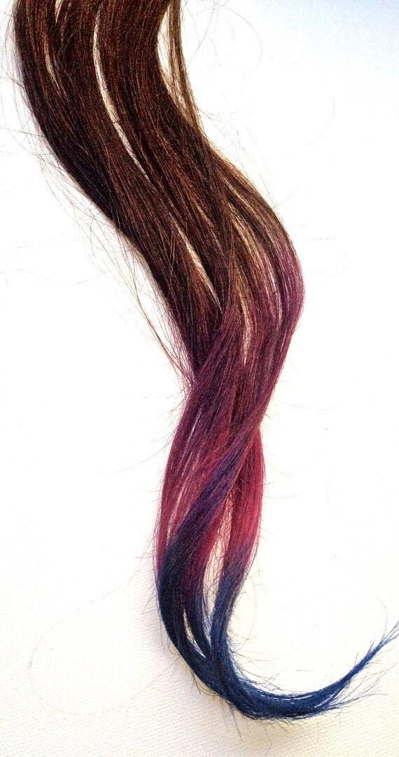 Items Similar To Dip Dye Ombre Hair Extensions Medium