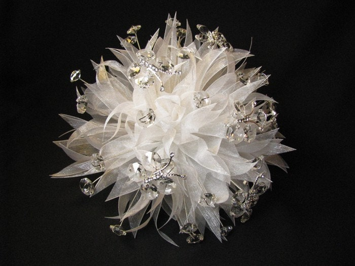 Bridal Flowers With Bling : Bling bouquet project wedding forums