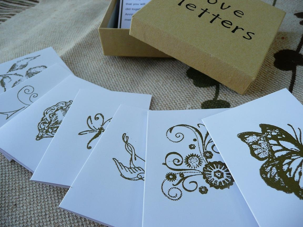 LOVE LETTERS for the Newlyweds Set of 7 Love Letters for your first week as Husband and Wife