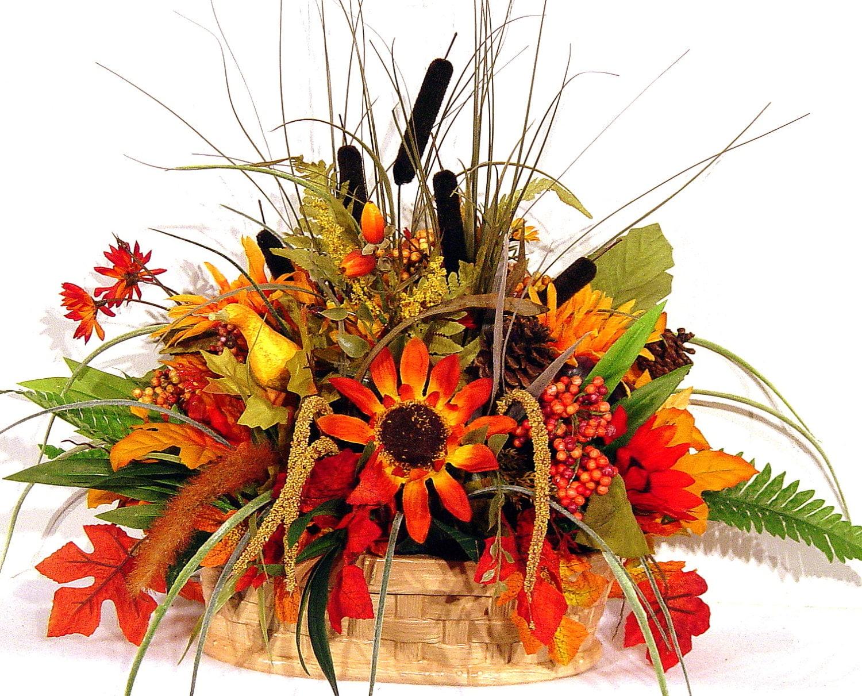 Items similar to fall centerpiece floral arrangement