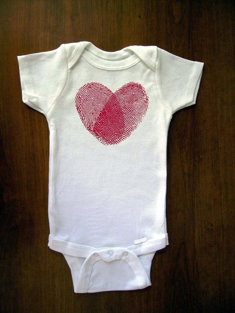 Unique Is A Fingerprint, As Is The Shape Of My Heart And It's Love Baby One Piece Bodysuit, Romper, Jumper, Onesie From TrulySanctuary, Great Baby Shower Gift, First Birthday Gift Or Party Favor