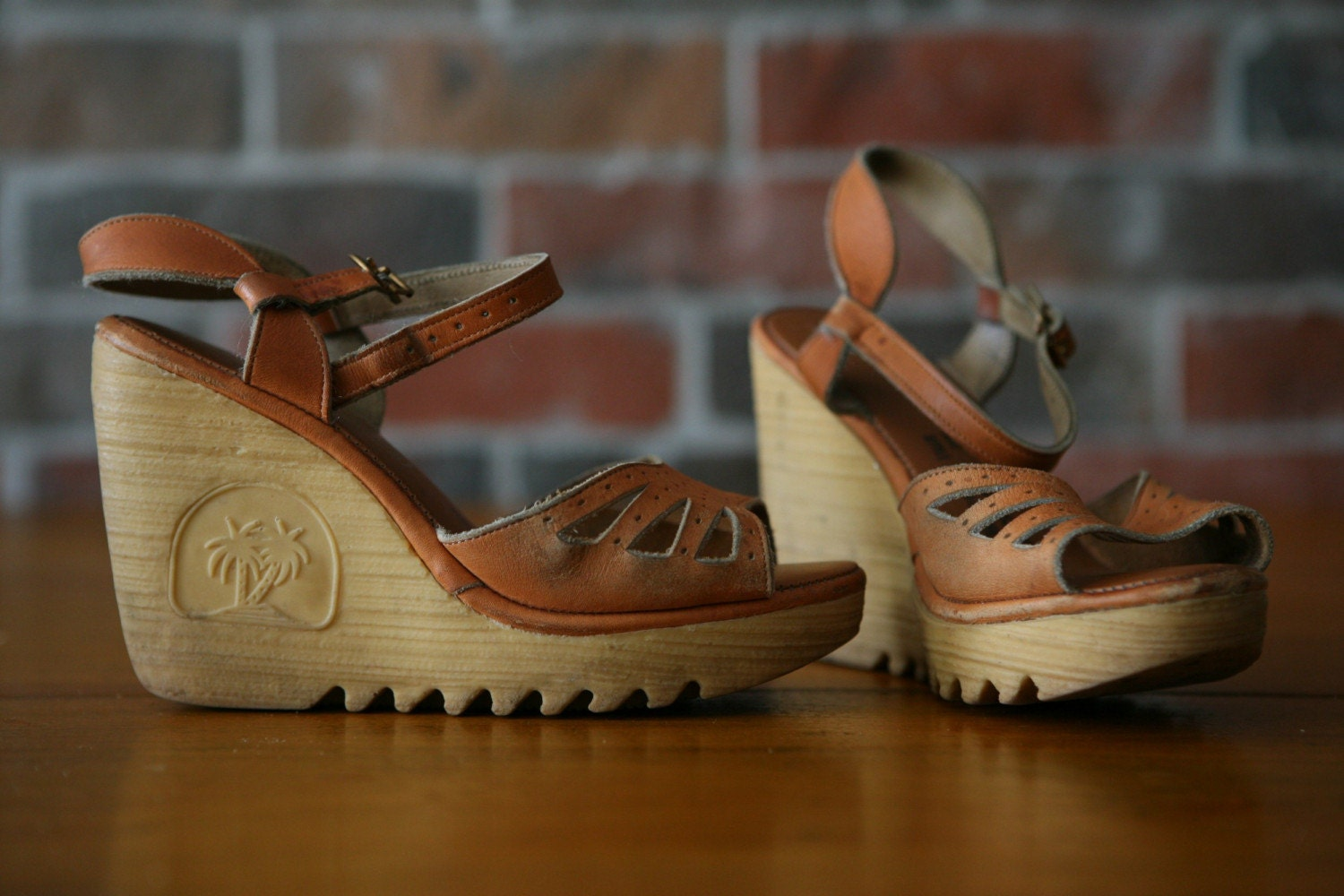 Items Similar To Platform Wedge Heel Strap Sandals With