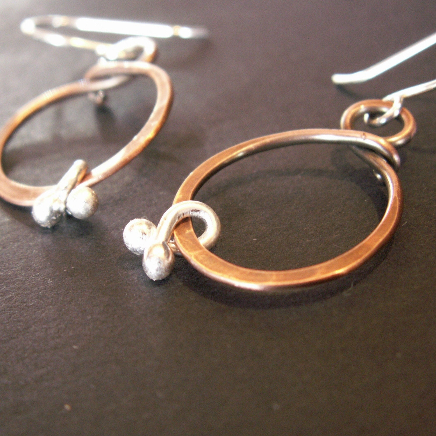 handmade handcrafted jewelry earrings copper sterling silver