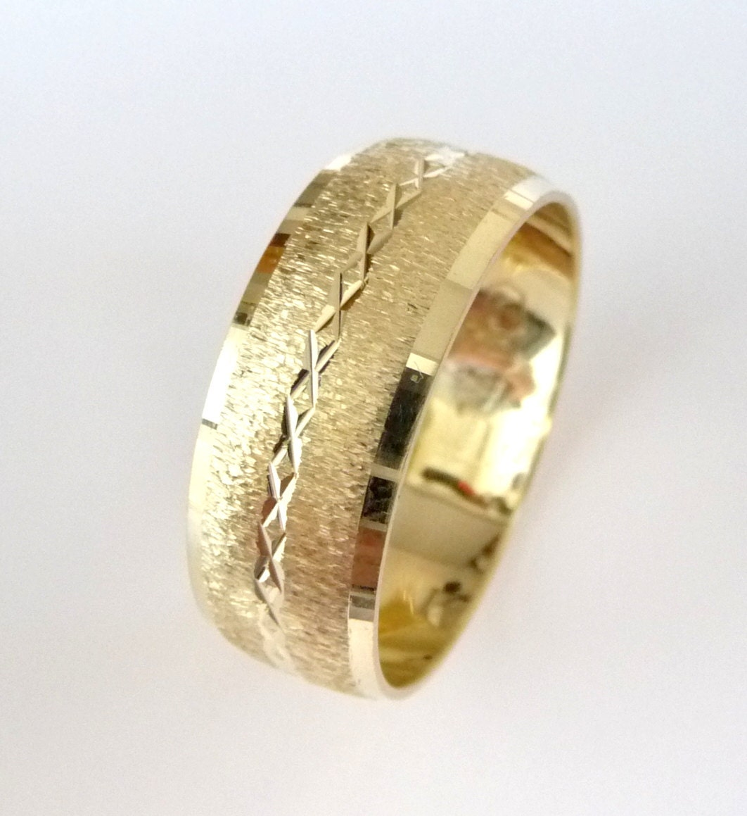 wedding band s s gold wedding ring unique by