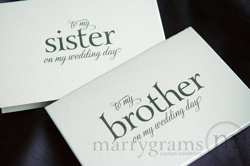 Wedding Day Gift For My Sister : ... To My Sister on My Wedding Day Card for Gift Just A Little Wedding