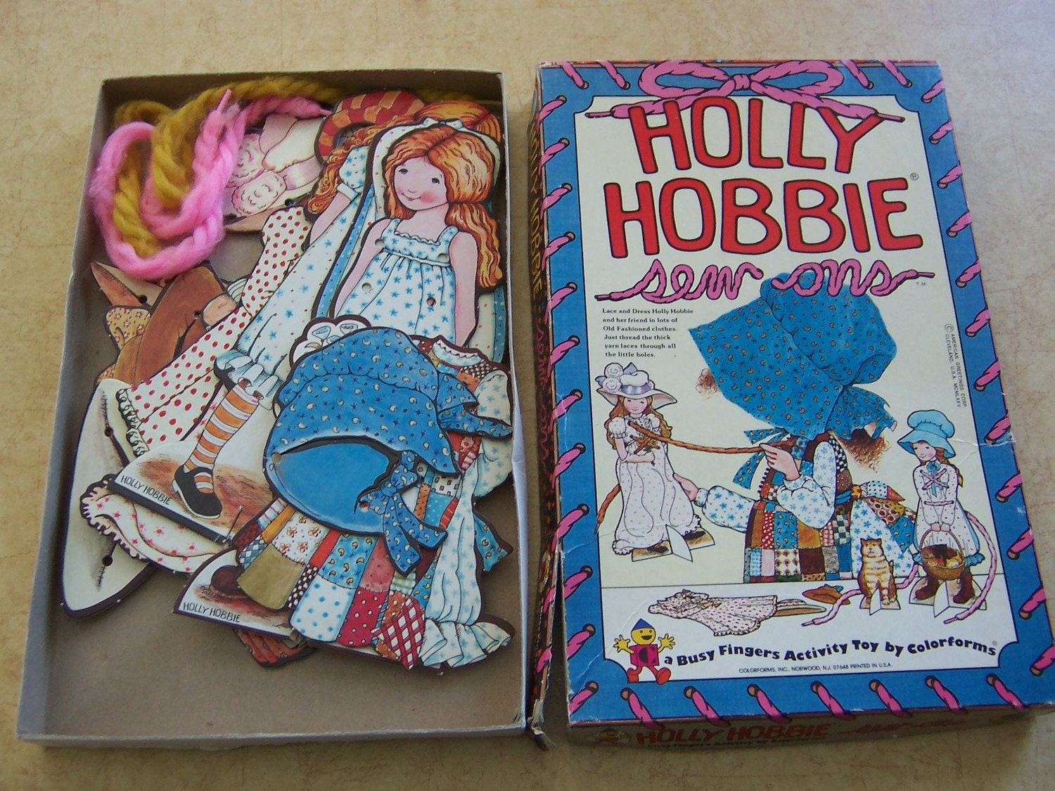Holly Hobbie Sew Ons Sewing Cards By By Vintageorphanage