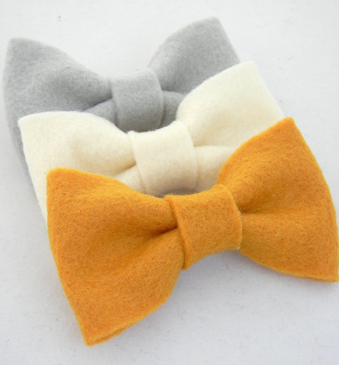 BOW Collection: Fall Trio Felt Bow Hair Clips - thepinkruffle