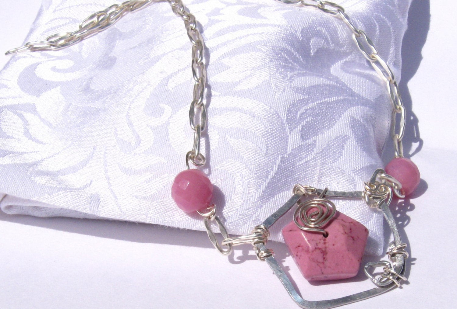 cherry pink necklace