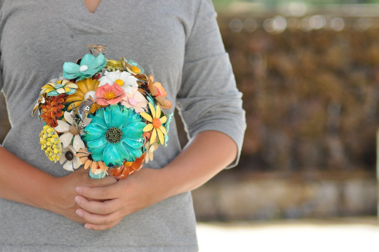 CUSTOM MADE Vintage Brooch Wedding Bouquet - to fit your color, style & budget