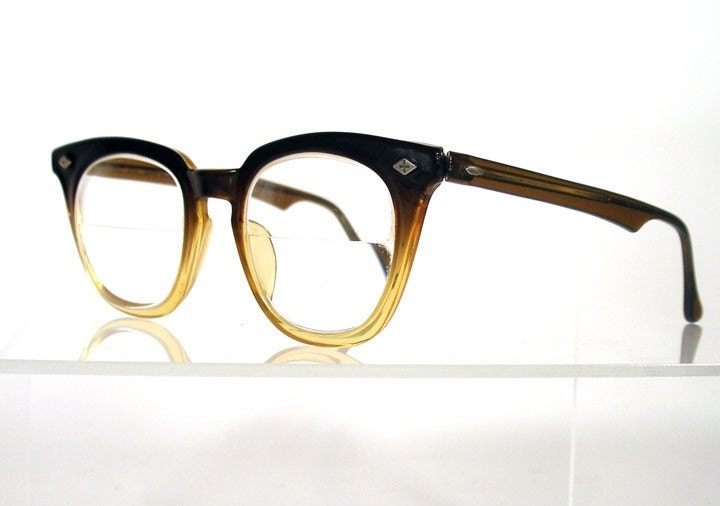 Vintage BAUSCH and LOMB Brown Fade Hornrim Eyeglass Frames