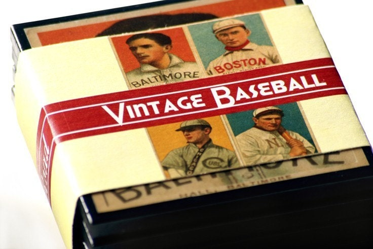 Vintage Baseball Card Drink Coasters