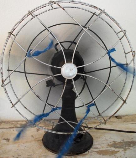 Huge Antique Cast Iron Fan