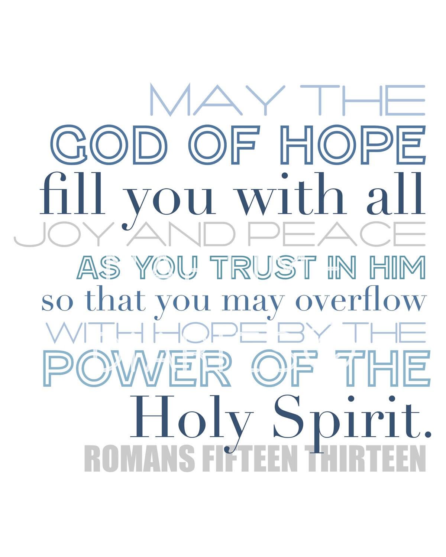 Romans 15:13 8x10 print