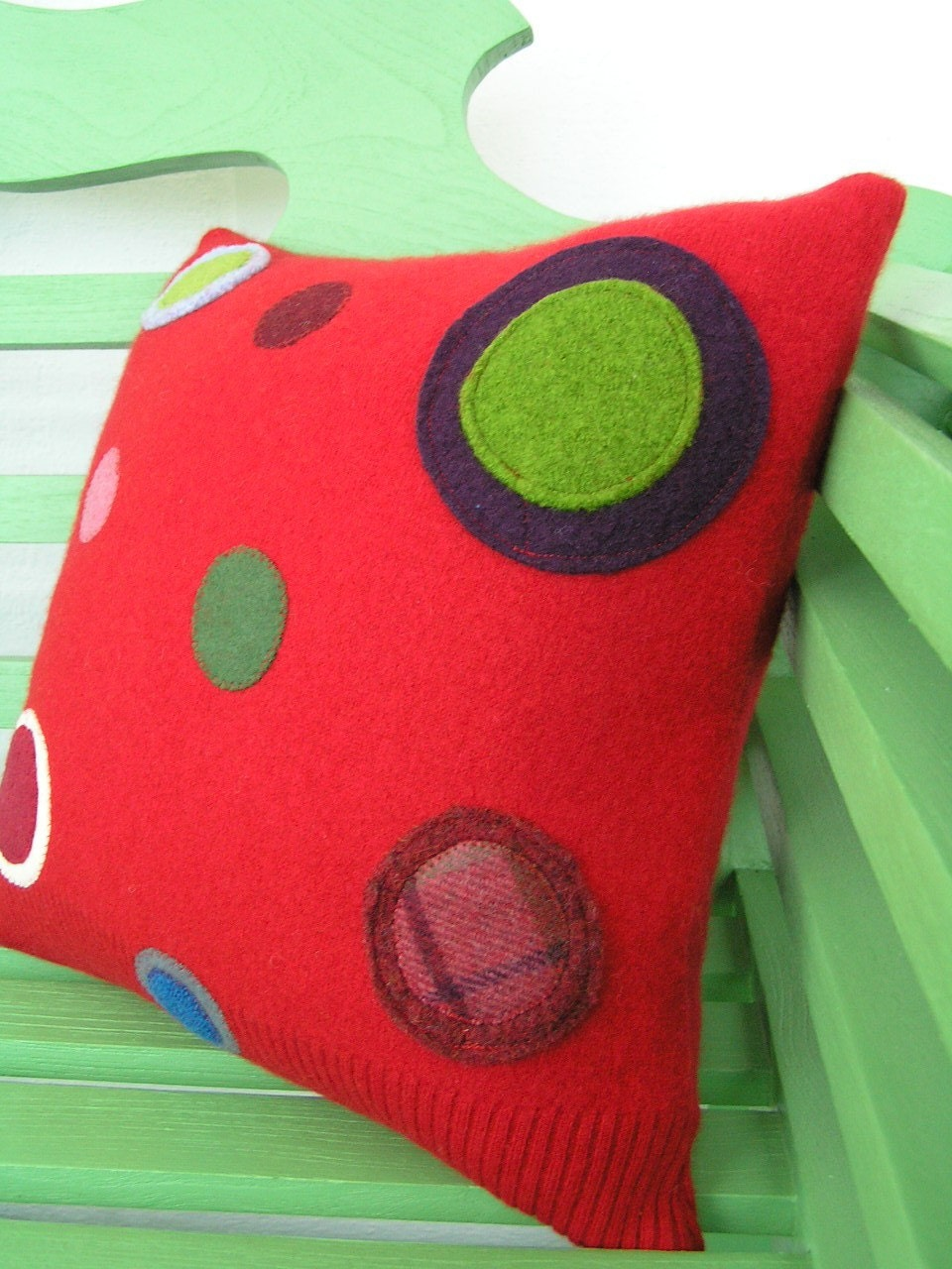 Kris Cashmere Red Pillow 38