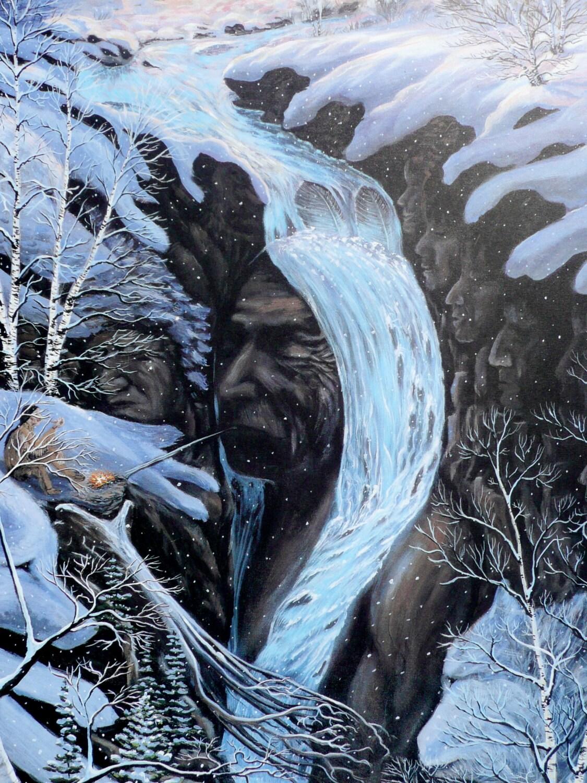 Native American Art Eli Thomas Art Waterfalls Art By