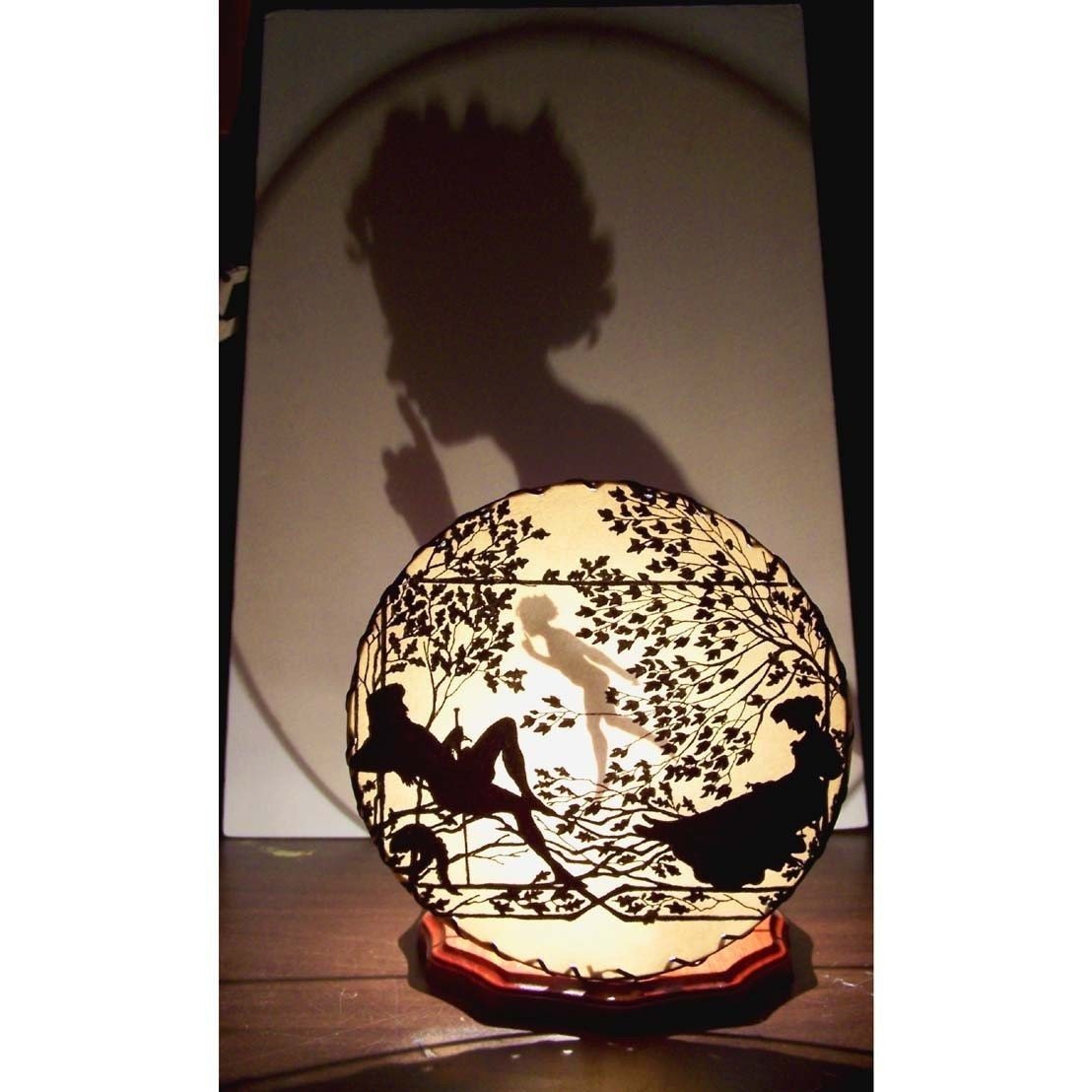 Etsy :: CreativePal :: Shadowland Unique Shadow Lamp Night Light  Lighting at its most original SLUMBERING LOVE from etsy.com