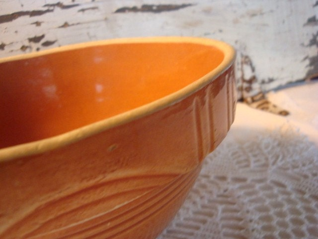 Gorgeous Yellow Crock Bowl