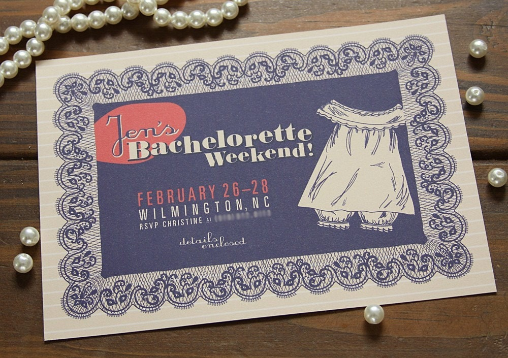 Betty Draper Bachelorette Invitation
