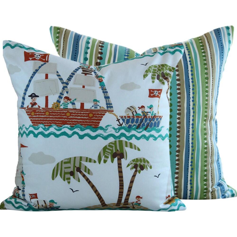 18x18 . P Kaufmann . Designer Pillow Cover . Treasure Chest Adventure