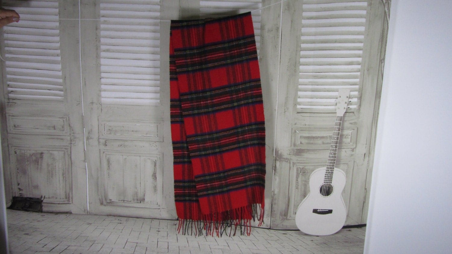 Red Striped Schurwolle Cashmere Shawl Winter Couzy Accessorie, Cashmere Scarf Gi